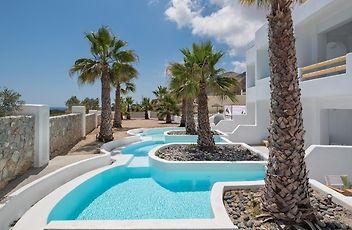 mediterranean white hotel santorini